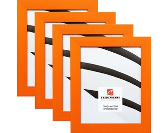 Modern Orange Picture Frame Confetti Craig Frames Set of Picture Frames Set of Four .875 Wide 35 Common Sizes 140649L-4