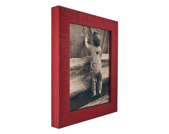 """Craig Frames, 24x24 Inch Flag Red Picture Frame, Lancashire, 1.5"""" Wide (1500132424)"""