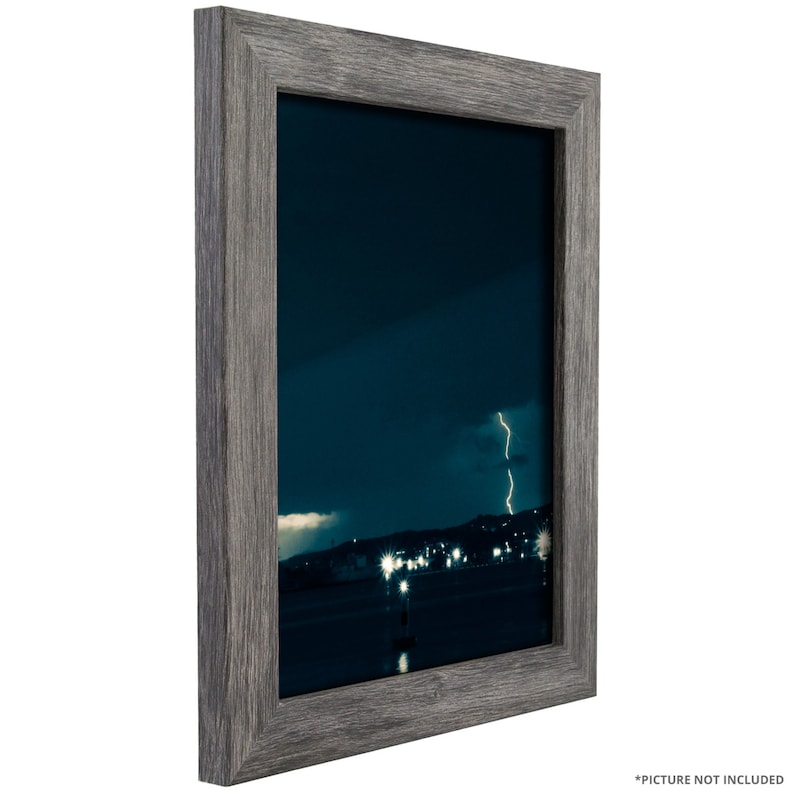 Bauhaus 1.25 Wide 8.5x11 Inch Gray Barnwood Picture Frame Set Set of Four FM26GRY8511L-4 Craig Frames