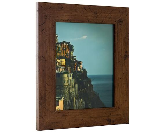 Rustic Dark Walnut Brown Picture Frame Craig Frames Bauhaus 200 18 by 25-Inch