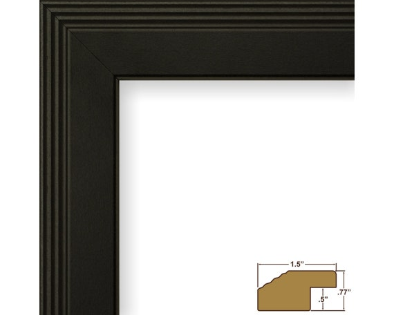 Craig Frames FW4BK0812 8x12 Inch Contemporary Black Picture Frame .75 Wide Mossehaus
