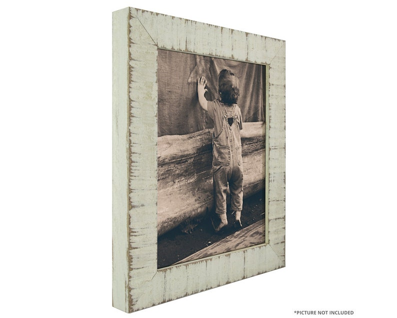11x14 Inch Rustic White Picture Frame Craig Frames 1500031114 1.5 Wide Lancashire