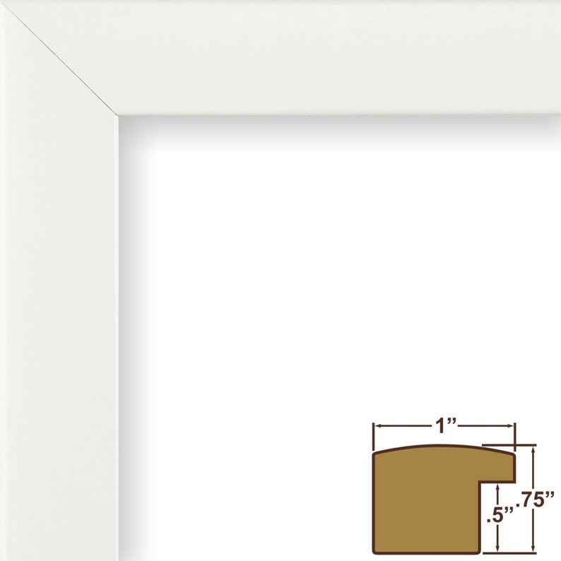 232478121927 Craig Frames Contemporary 1 Wide 19x27 Inch White Picture Frame