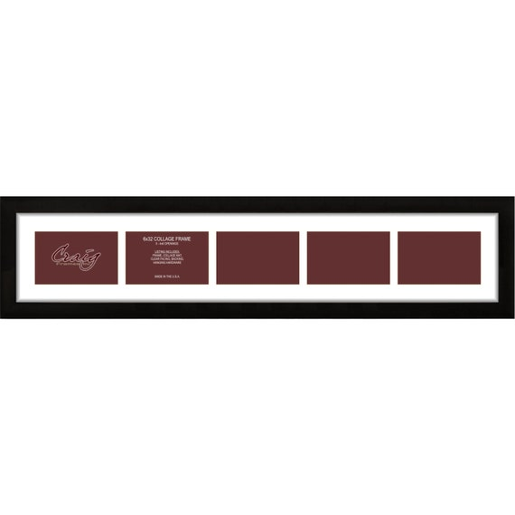 Craig Frames 6x32 Inch Black Picture Frame Single White | Etsy