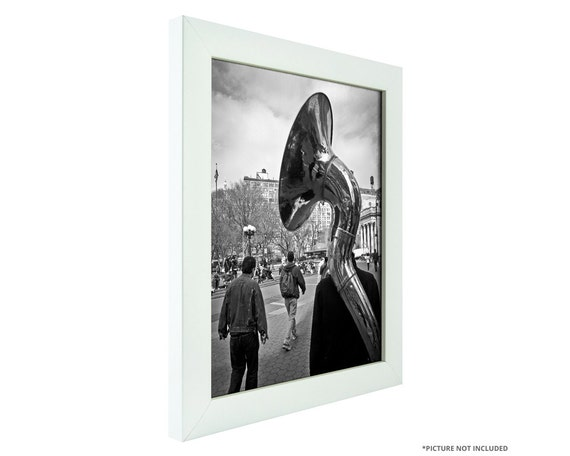 Craig Frames 16x16 Inch White Picture Frame Contemporary
