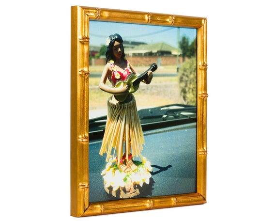 Craig Frames 14x18 Inch Vintage Gold Bamboo Picture Frame