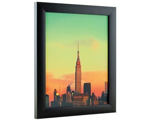 Craig Frames, 10x14 Inch Modern Black Picture Frame, Contemporary 1\