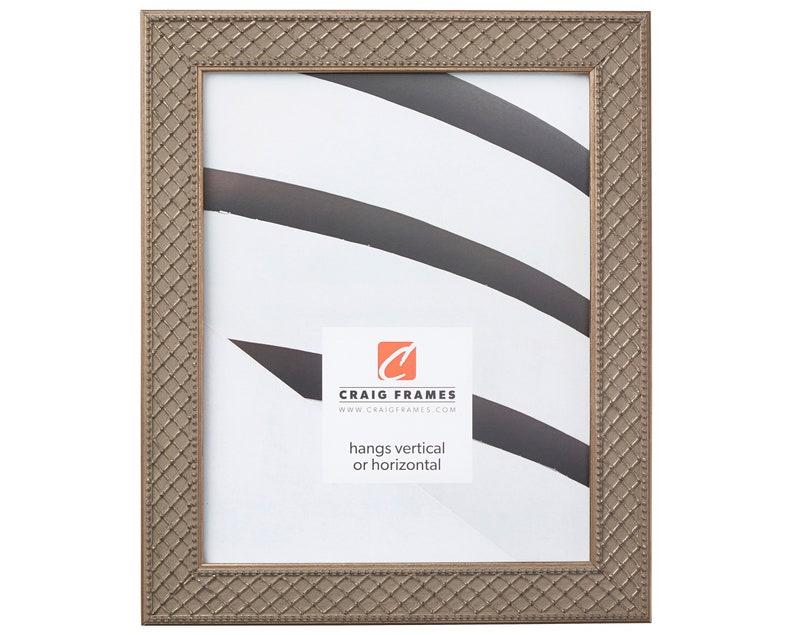 101701236 Craig Frames 12x36 Inch Antique Silver Picture Frame Lenox 1.125 Wide
