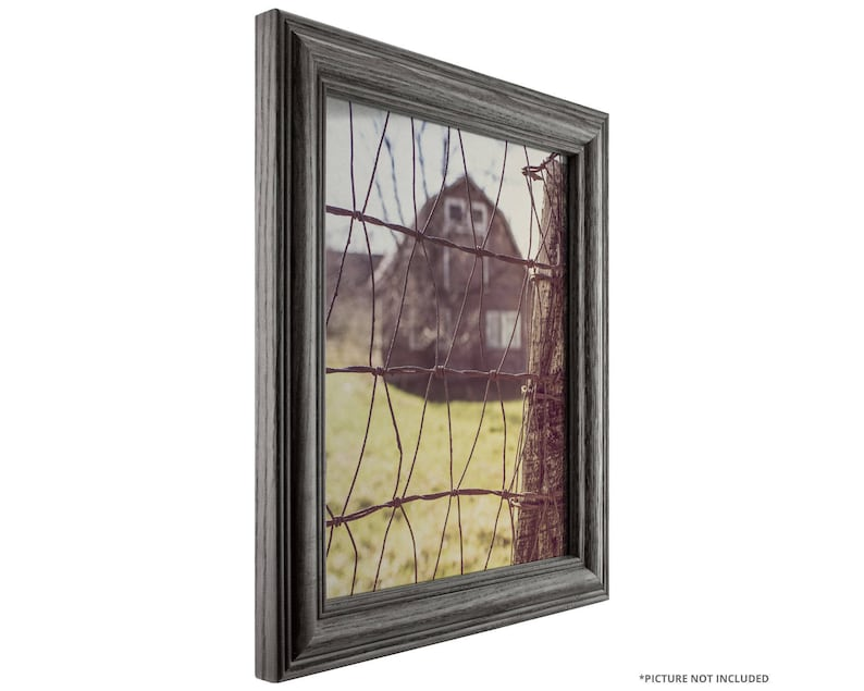 Wiltshire 440 Riverstone 1.265 Wide Craig Frames 16x24 Inch Blue Gray Solid Wood Picture Frame 440BL1624