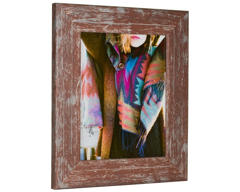 2 Wide Craig Frames 20x24 Inch Red Faux Barnwood Picture Frame 7416042024 American Barn