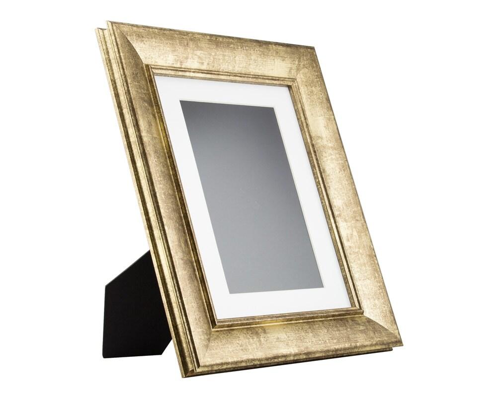 Craig Frames, 8.5x11 Inch Vintage Gold Standing Picture Frame, Mat ...