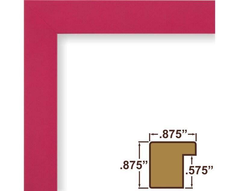 24x30 Inch Modern Raspberry Pink Picture Frame 1406472430 Craig Frames Confetti .875 Wide