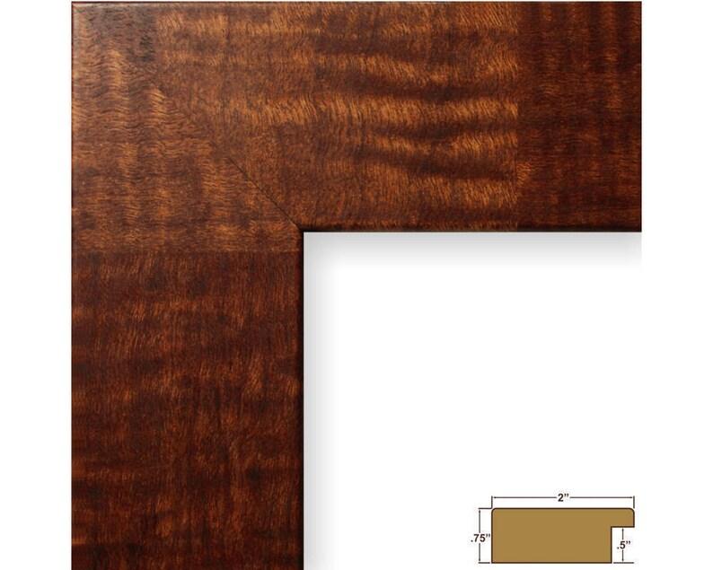 Bauhaus 2 Wide 12x18 Inch Walnut Parquet Picture Frame Craig Frames 740411218
