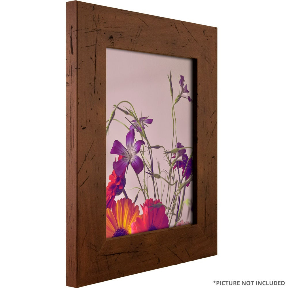 Craig Frames, 16x24 Inch Dark Walnut Brown Rustic Picture Frame ...