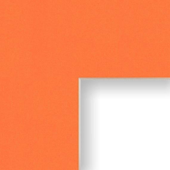 16x22 Inch Mat 11x17 Inch Single Opening Image Orange With Cream Core B15216221117 Craig Frames