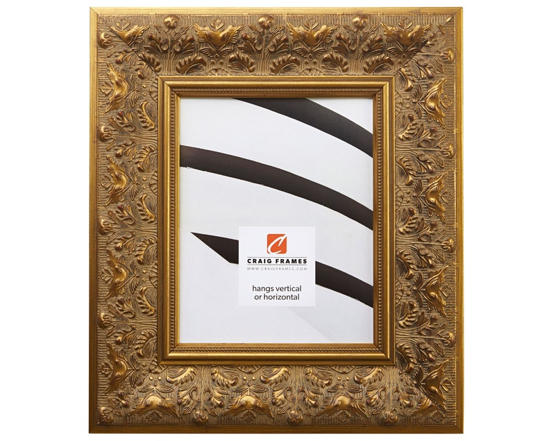 3.5 Wide Craig Frames Borromini 14x18 Inch Gold and Bronze Picture Frame 94721418
