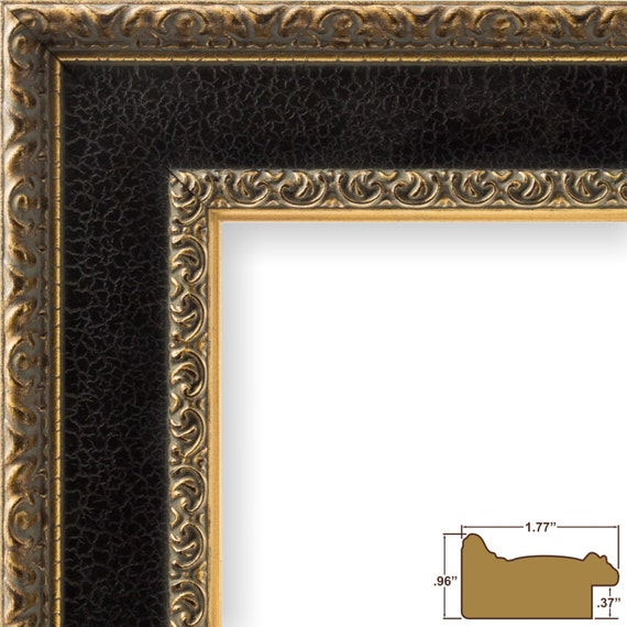 Craig Frames 18x36 Inch Antique Gold and Black Picture Frame | Etsy