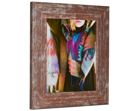Craig Frames 20x30 Inch Red Faux Barnwood Picture Frame Etsy