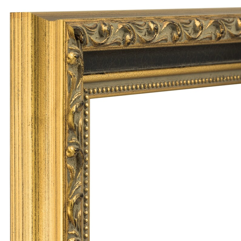 Regence 5x7 Inch Antique Gold and Black Picture Frame 1.275 Wide Craig Frames 94820507