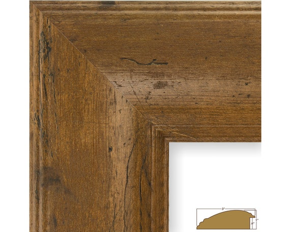 Craig Frames 24x36 Inch Rustic Light Walnut Picture Frame