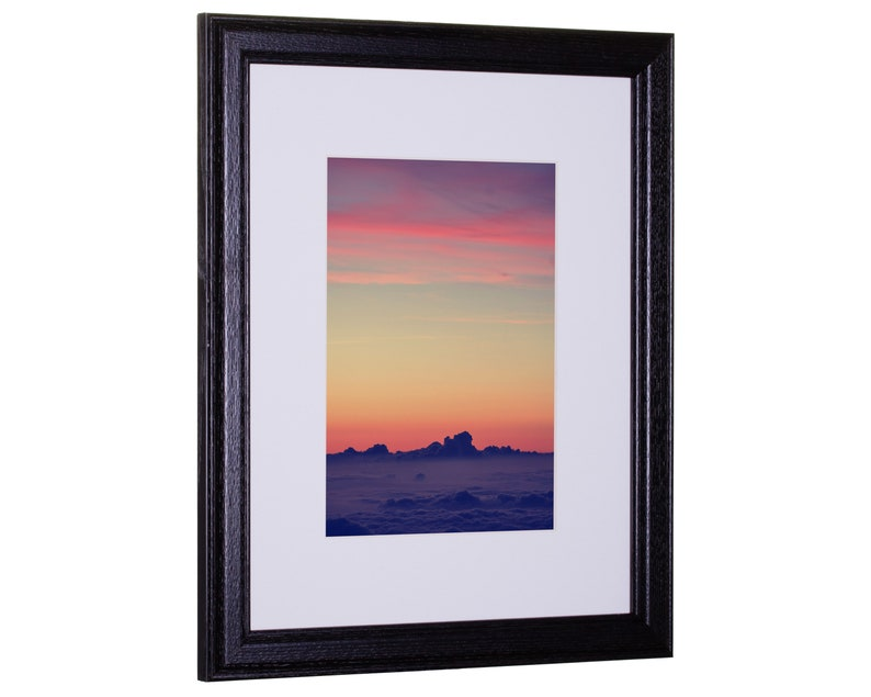 639182401B37A Craig Frames Black 18x24 Inch Simple Black Hardwood Picture Frame with 12x18 Single White Mat Wiltshire 236