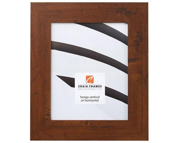 Craig Frames 6x9 Inch Dark Walnut Brown Rustic Picture Frame   Etsy