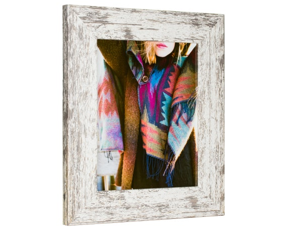 Craig Frames American Classic Weathered White Wood Picture Frame Custom Sizes