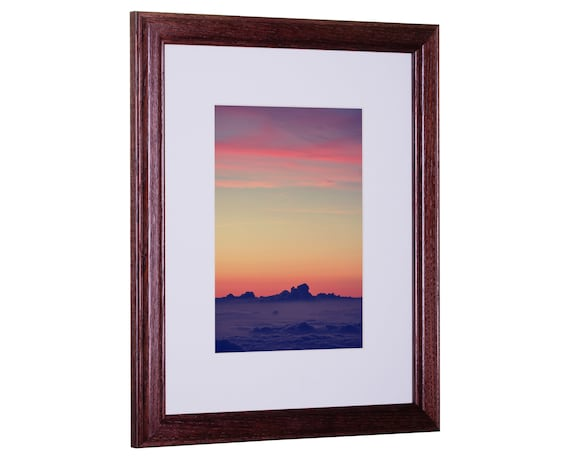 Craig Frames, 24x32 Inch Simple Red Hardwood Picture Frame with ...