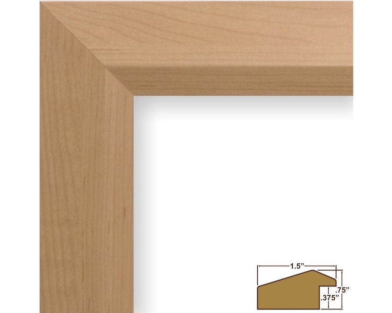 Craig Frames 5x5 Inch American Maple Picture Frame 170150505 Balla 1.5 Wide