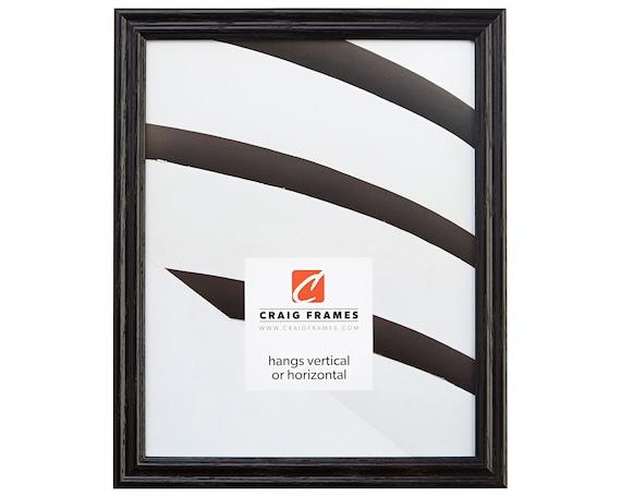 Craig Frames 12x36 Inch Black Solid Wood Picture Frame | Etsy