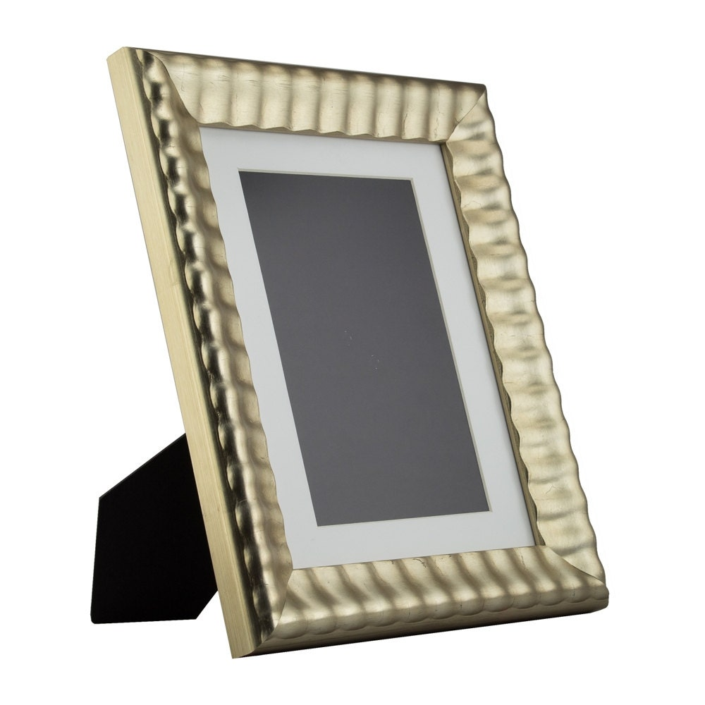 Craig Frames, 8.5x11 Inch Silver & Gold Picture Frame, Mat with 6x9 ...