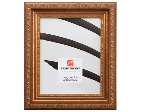 Craig Frames 10x13 Inch Brushed Antique Gold Picture Frame Etsy
