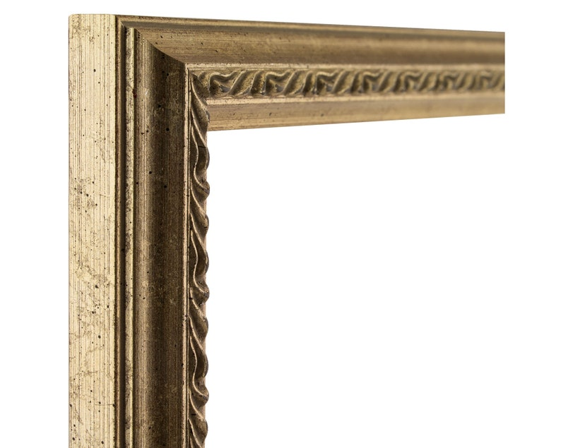 314WH0507 Craig Frames Stratton .75 Wide 5x7 Inch Ornate White and Silver Picture Frame