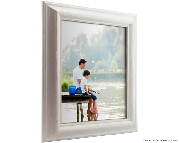 Craig Frames, 10x13 Inch White Picture Frame, American Classic 1.75 ...