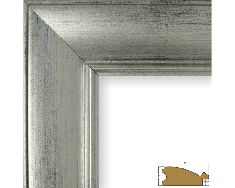 2123131212 12x12 Inch Brushed Silver Picture Frame 2 Wide Craig Frames
