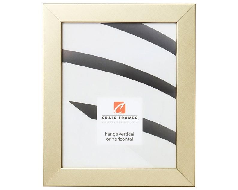 Craig Frames Bauhaus 125 264462424 24x24 Inch Modern Brushed Gold Picture Frame