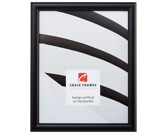 Craig Frames, 6x9 Inch Contemporary Black Picture Frame, Bullnose,  765