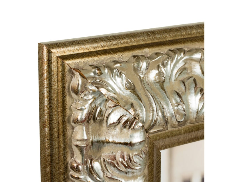 Barroco 3.6 Wide 4x10 Inch Antique Silver Baroque Picture Frame Craig Frames 80810410
