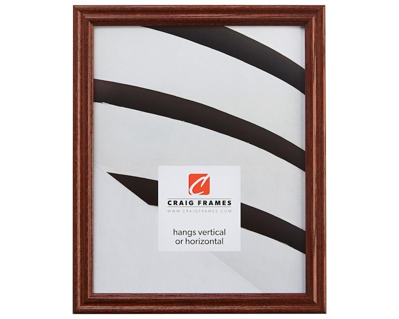 200ASH2161722 Wiltshire 200 17x22 Inch Dark Walnut Brown Solid Wood Picture Frame Craig Frames .75 Wide