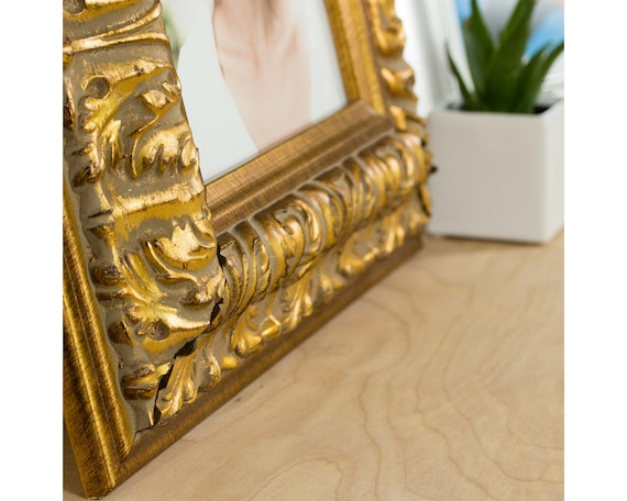 3.5-Inch Wide Ornate Finish Weathered Gold Craig Frames 9472 3 by 3-Inch Picture Frame