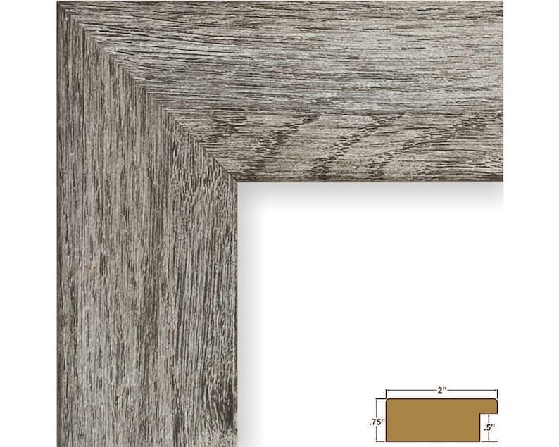 740301818 18x18 Inch Gray Barnwood Picture Frame Bauhaus 2 Wide Craig Frames