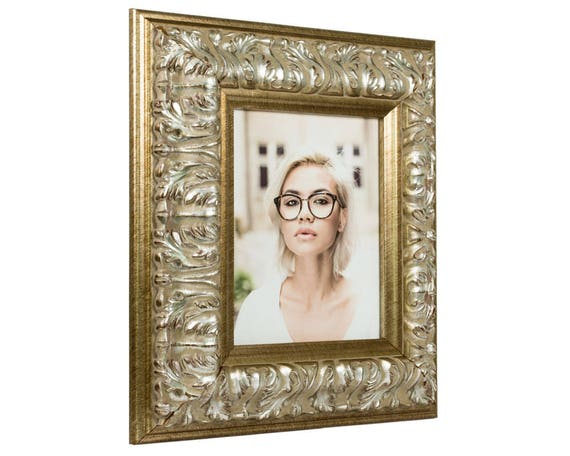 Craig Frames, 14x18 Inch Antique Silver Baroque Picture Frame ...