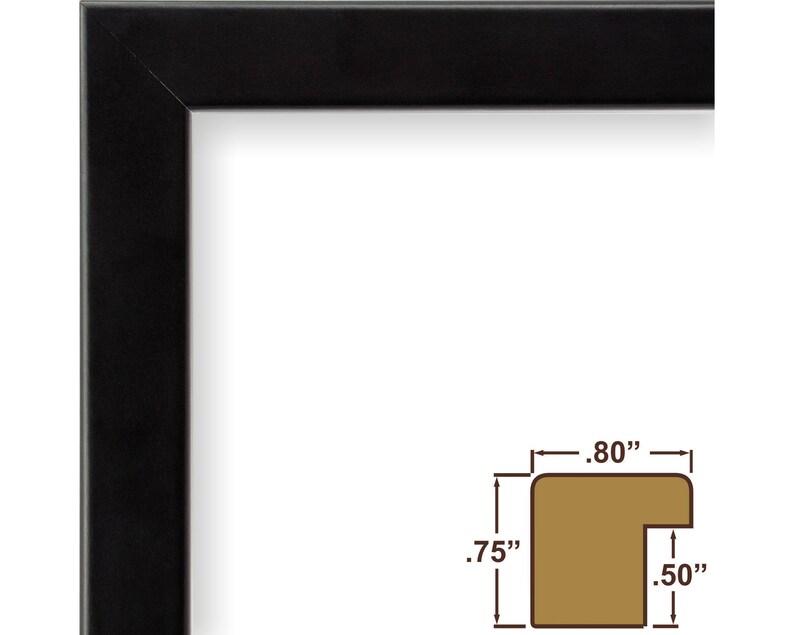 Bauhaus 0.75 Wide Craig Frames 722732424 24x24 Inch Modern Satin Black Picture Frame