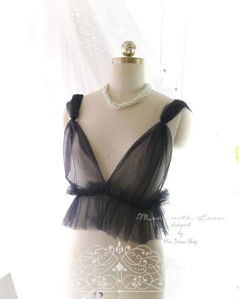 3c3dc84a26791 Dreamy Witchy Tulle Black Airy Cami Camisole Bralette Daddys