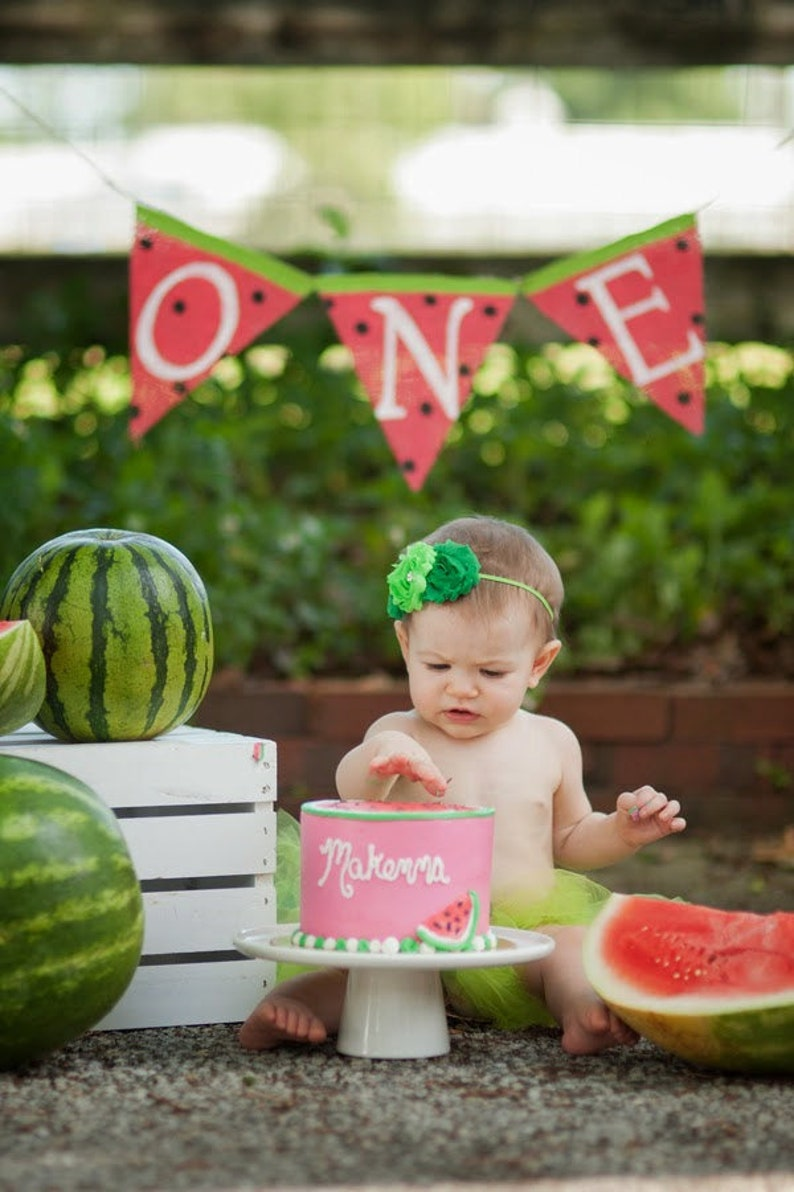 c0a4a008d Watermelon 1st Birthday Summer Birthday Party Decorations | Etsy