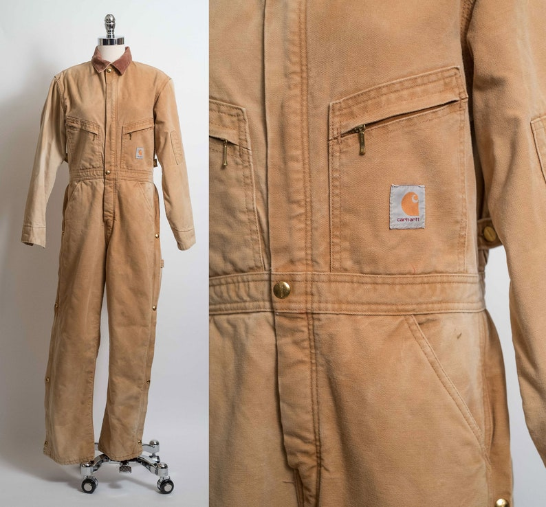 hot products skate shoes watch vtg Carhartt USA made Coversalls Duck Canvas Insulated Workwear 36R XS