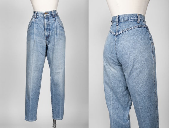 vtg Lee High Waisted Pleated Mom Jeans 6 / 27 in.
