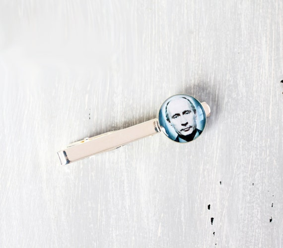 President Tie Clip - Vladimir Putin Tie Clip for him - Russian Federation Design