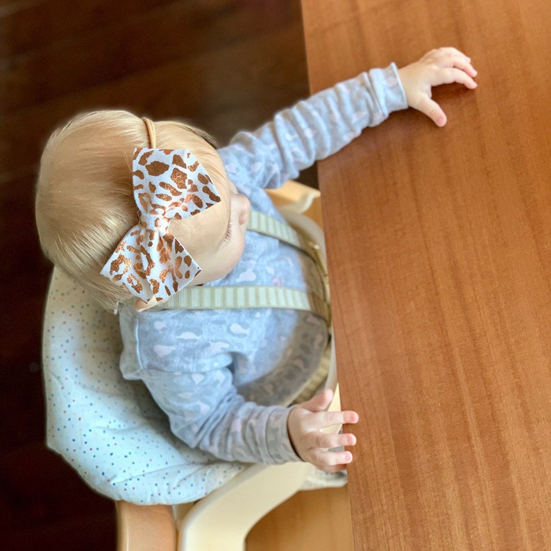 Free Shipping Baby accessory Leopard Felt bow OVERSIZED