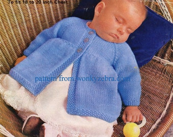 Knitted Matinee Coats PDF Vintage Pattern B014 from WonkyZebraBaby